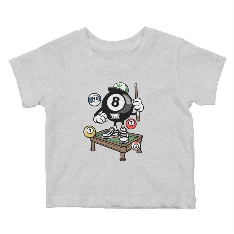 Pool Hall Hustle Kids Baby T-Shirt by WackyToonz
