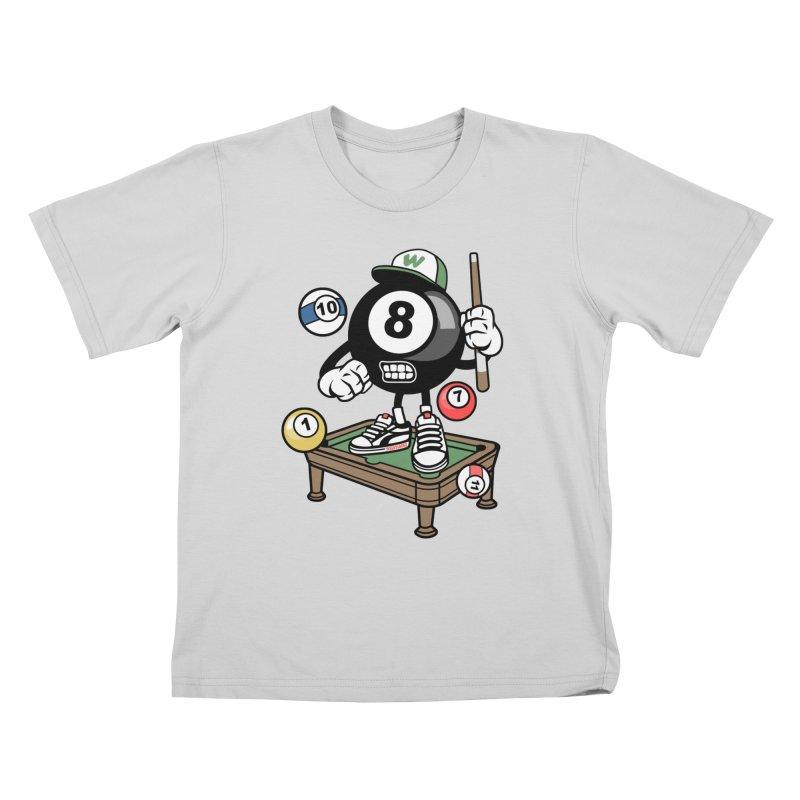 Pool Hall Hustle Kids T-Shirt by WackyToonz