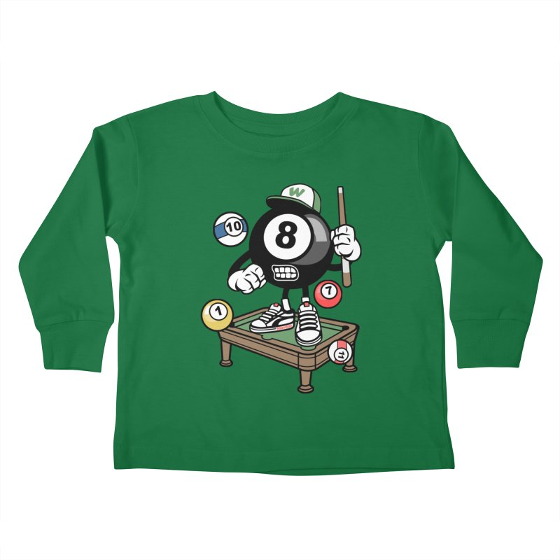 Pool Hall Hustle Kids Toddler Longsleeve T-Shirt by WackyToonz