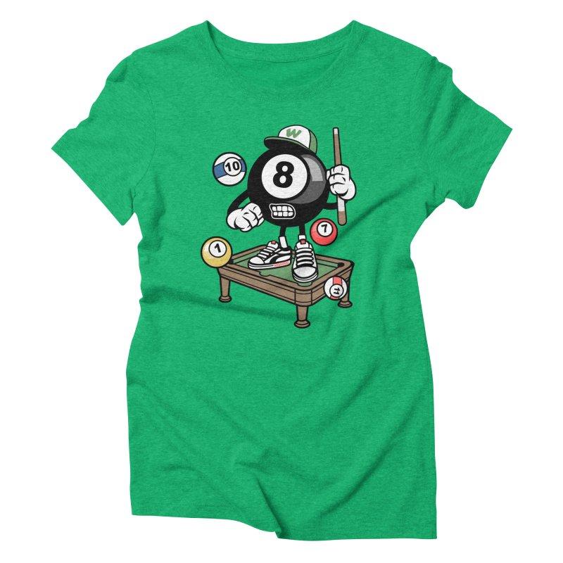 Pool Hall Hustle Women's Triblend T-Shirt by WackyToonz