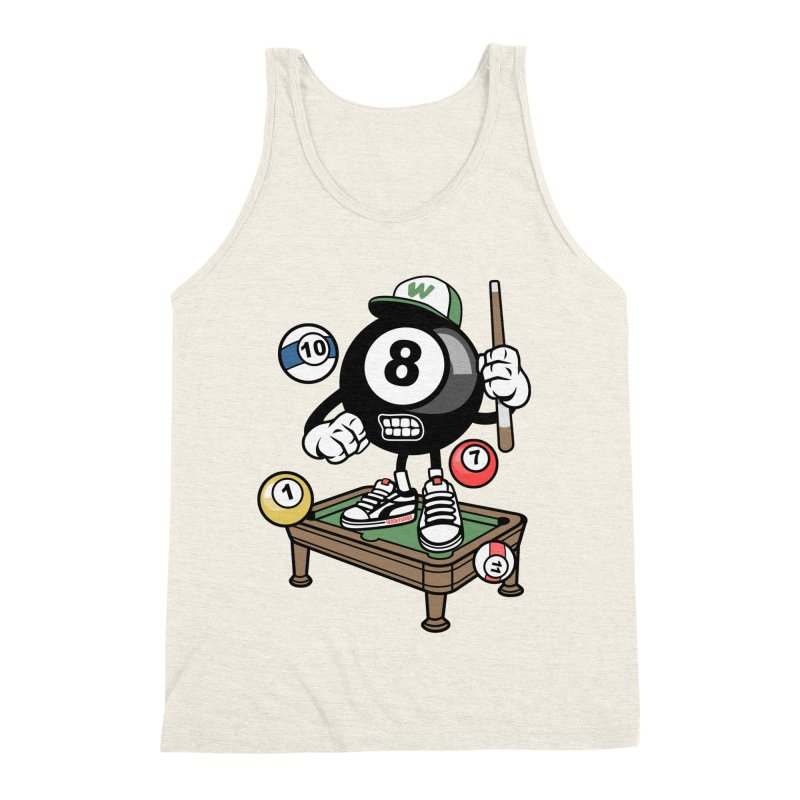 Pool Hall Hustle Men's Triblend Tank by WackyToonz
