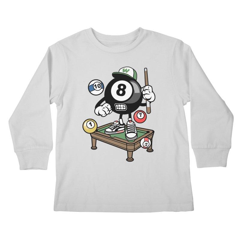 Pool Hall Hustle Kids Longsleeve T-Shirt by WackyToonz