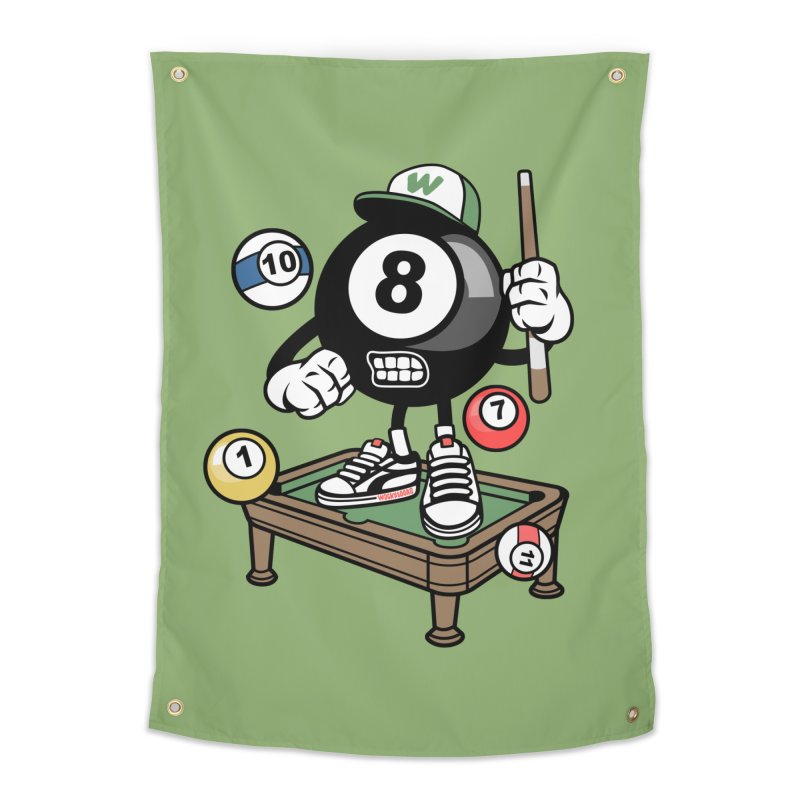 Pool Hall Hustle Home Tapestry by WackyToonz