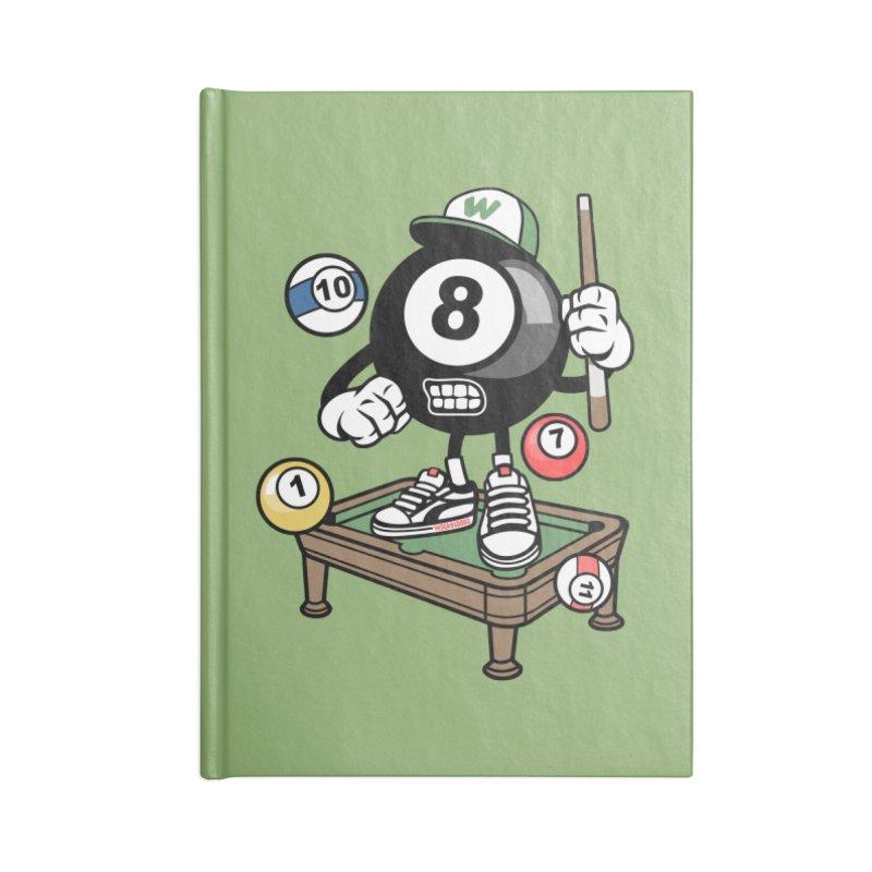 Pool Hall Hustle Accessories Blank Journal Notebook by WackyToonz