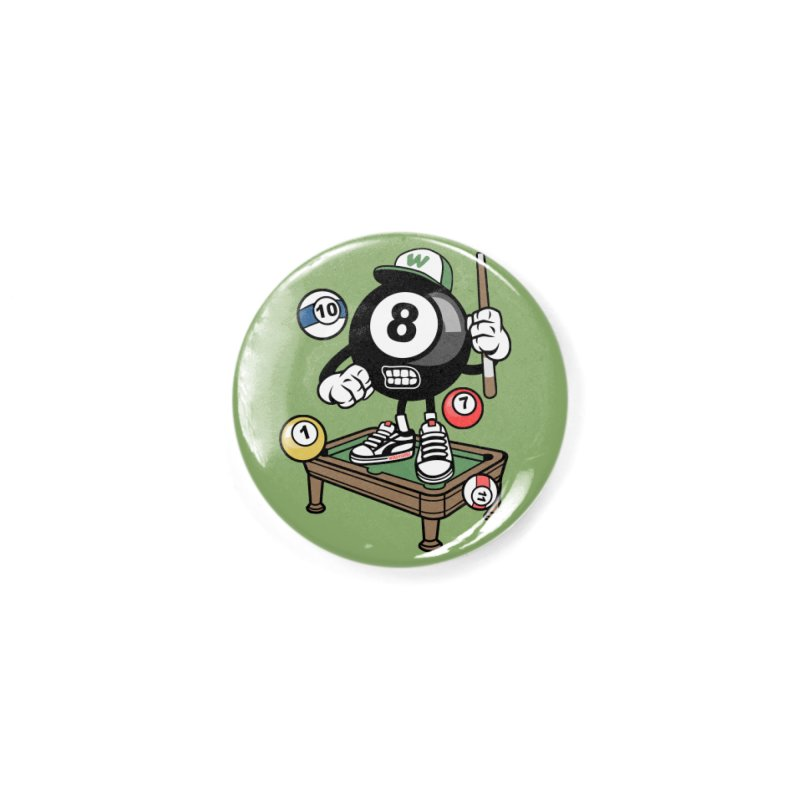 Pool Hall Hustle Accessories Button by WackyToonz
