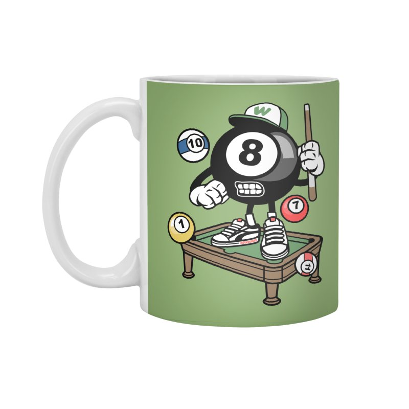 Pool Hall Hustle Accessories Standard Mug by WackyToonz