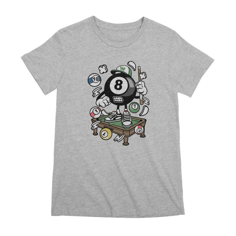 Pool Hall Hustle Women's Premium T-Shirt by WackyToonz
