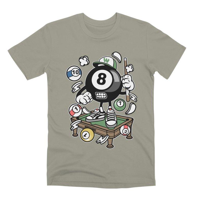Pool Hall Hustle Men's Premium T-Shirt by WackyToonz