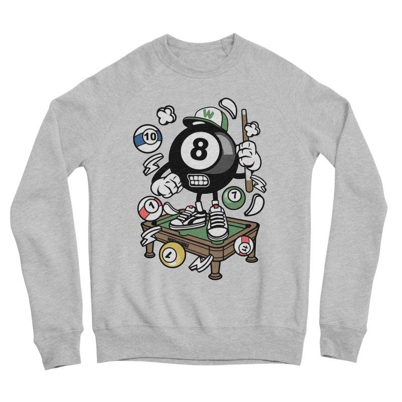 Pool Hall Hustle Women's Sponge Fleece Sweatshirt by WackyToonz