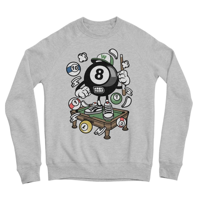 Pool Hall Hustle Men's Sponge Fleece Sweatshirt by WackyToonz