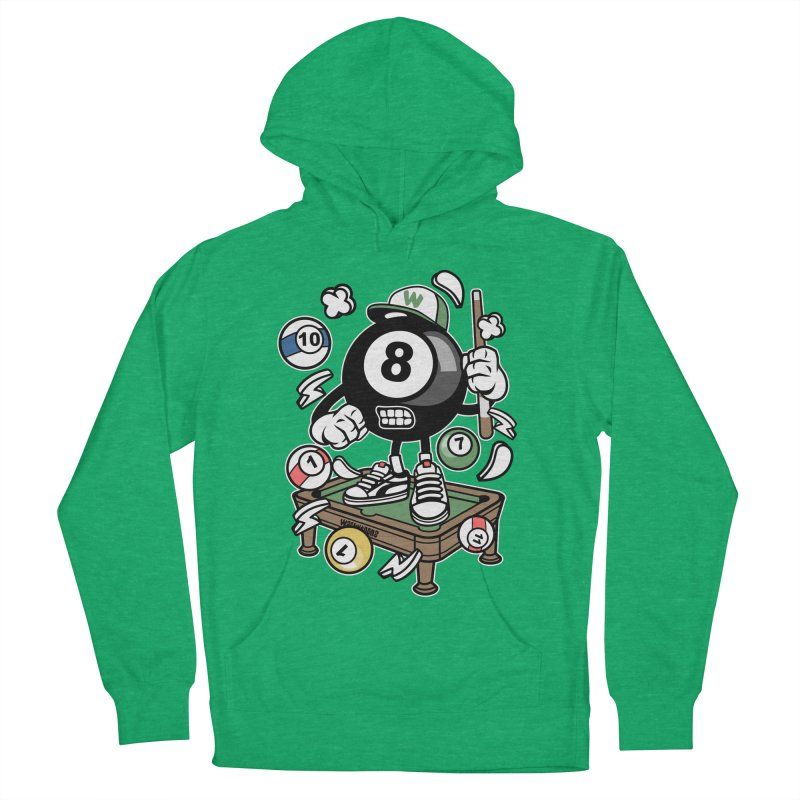 Pool Hall Hustle Men's French Terry Pullover Hoody by WackyToonz