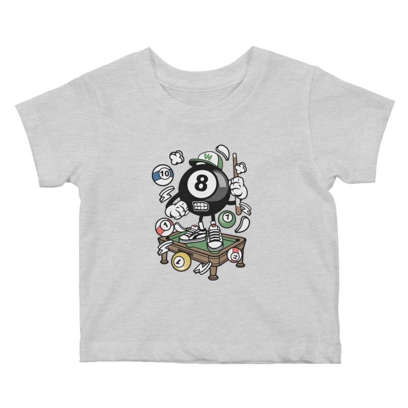 Pool Hall Hustle Kids Baby T-Shirt by WackyToonz