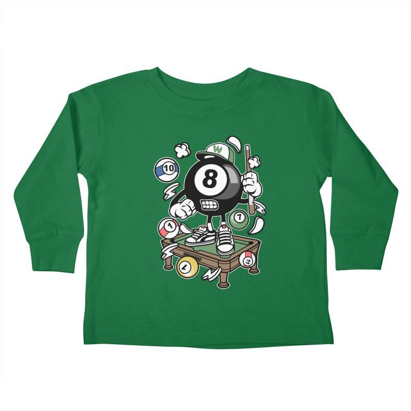 Pool Hall Hustle Kids Toddler Longsleeve T-Shirt by WackyToonz