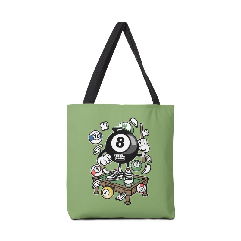 Pool Hall Hustle Accessories Tote Bag Bag by WackyToonz
