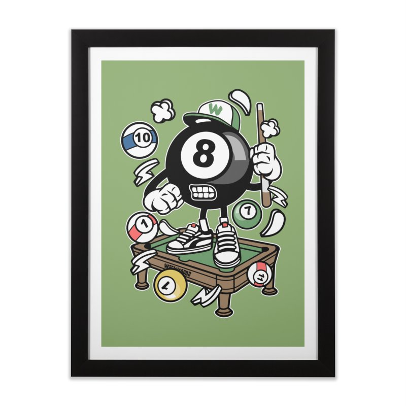 Pool Hall Hustle Home Framed Fine Art Print by WackyToonz