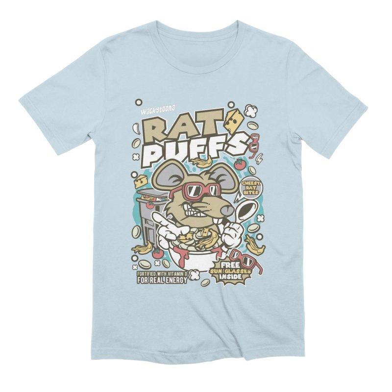 Rat Puffs Cereal Men's T-Shirt by WackyToonz
