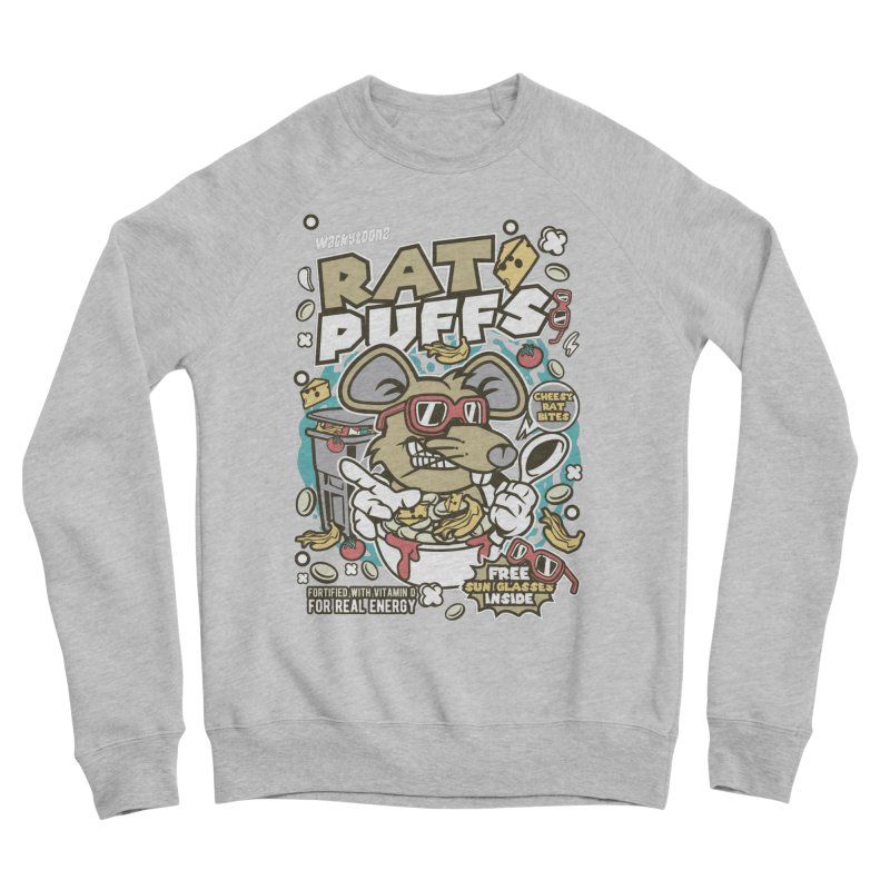 Rat Puffs Cereal Men's Sponge Fleece Sweatshirt by WackyToonz