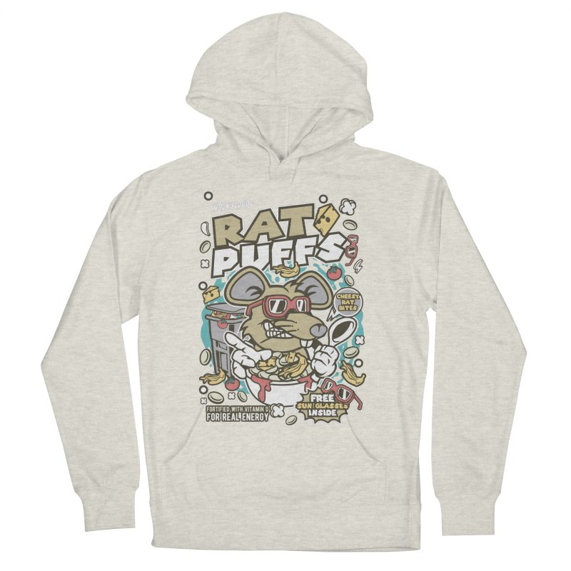 Rat Puffs Cereal Men's French Terry Pullover Hoody by WackyToonz