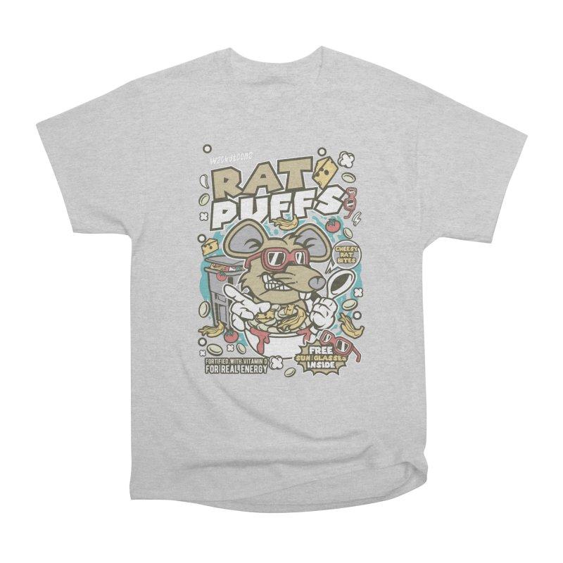 Rat Puffs Cereal Men's Heavyweight T-Shirt by WackyToonz