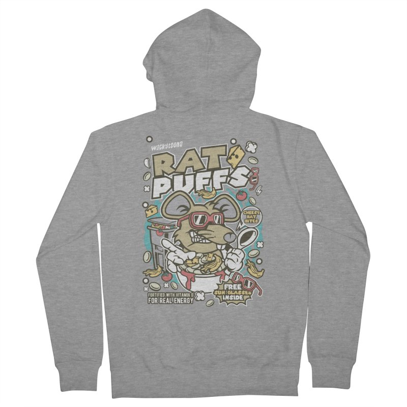 Rat Puffs Cereal Men's French Terry Zip-Up Hoody by WackyToonz