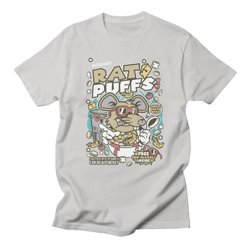 Rat Puffs Cereal Men's Regular T-Shirt by WackyToonz