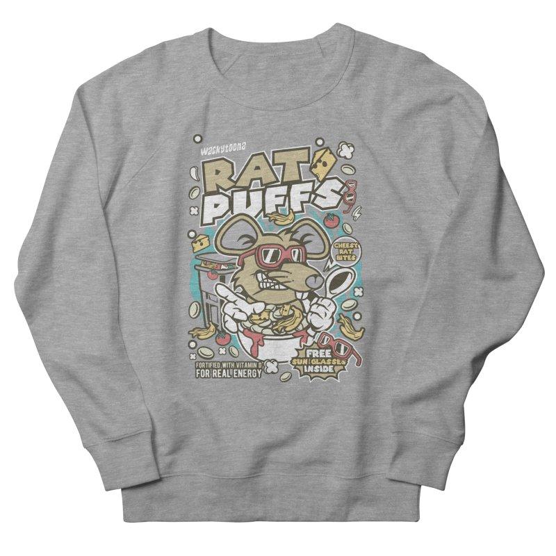 Rat Puffs Cereal Men's French Terry Sweatshirt by WackyToonz