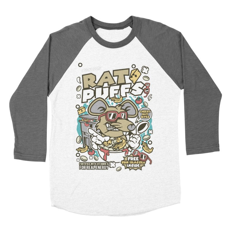 Rat Puffs Cereal Men's Baseball Triblend Longsleeve T-Shirt by WackyToonz