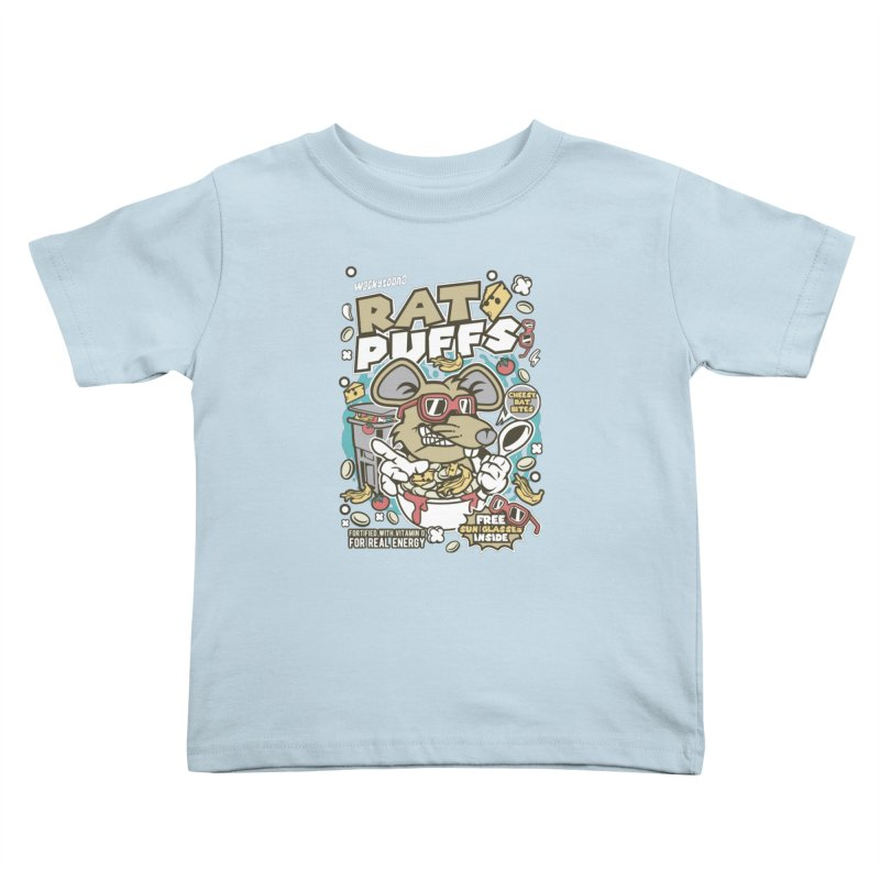 Rat Puffs Cereal Kids Toddler T-Shirt by WackyToonz