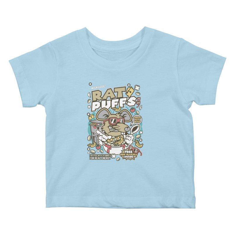 Rat Puffs Cereal Kids Baby T-Shirt by WackyToonz