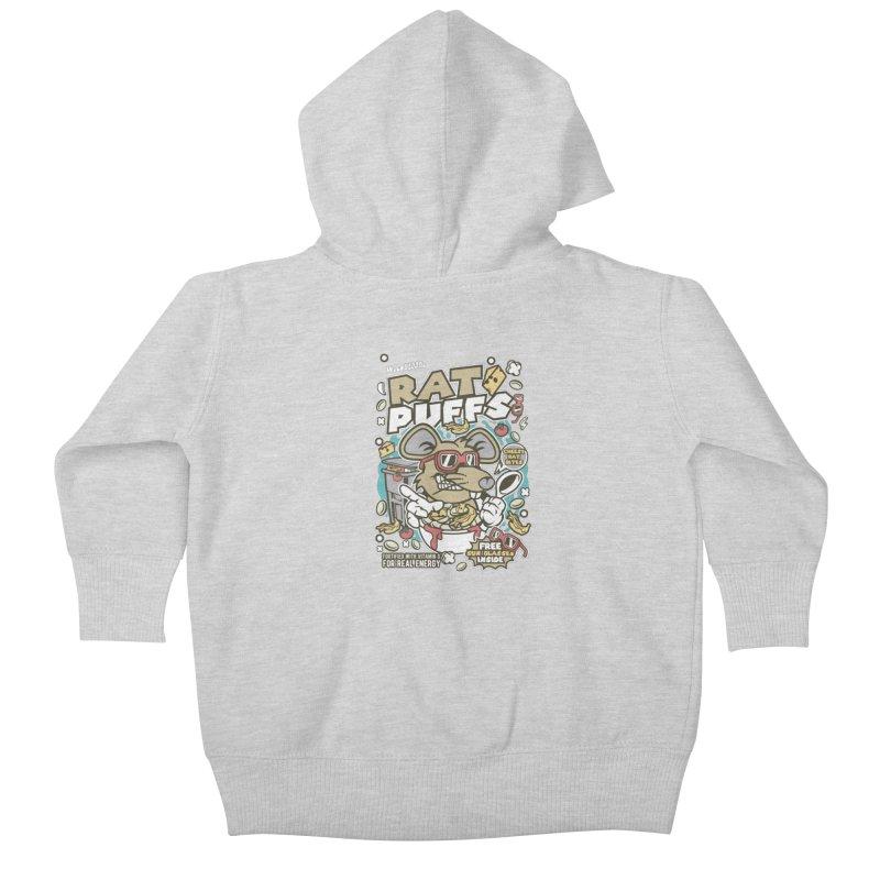 Rat Puffs Cereal Kids Baby Zip-Up Hoody by WackyToonz