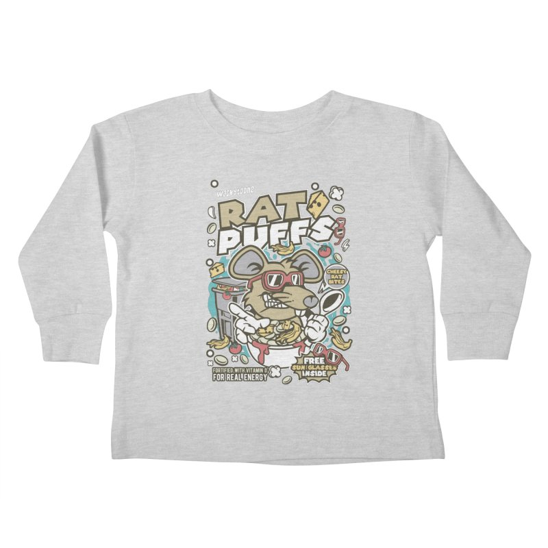 Rat Puffs Cereal Kids Toddler Longsleeve T-Shirt by WackyToonz