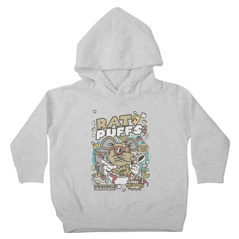 Rat Puffs Cereal Kids Toddler Pullover Hoody by WackyToonz