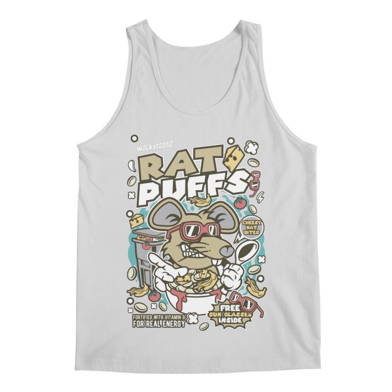 Rat Puffs Cereal Men's Regular Tank by WackyToonz