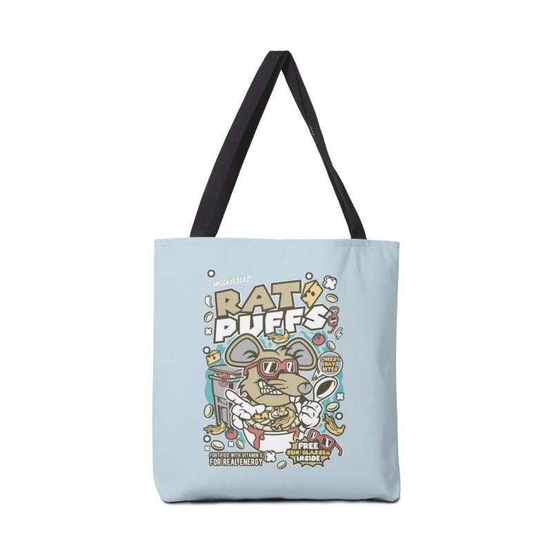 Rat Puffs Cereal Accessories Tote Bag Bag by WackyToonz