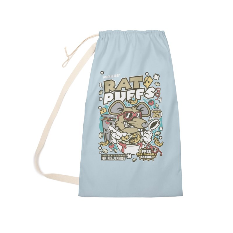 Rat Puffs Cereal Accessories Laundry Bag Bag by WackyToonz