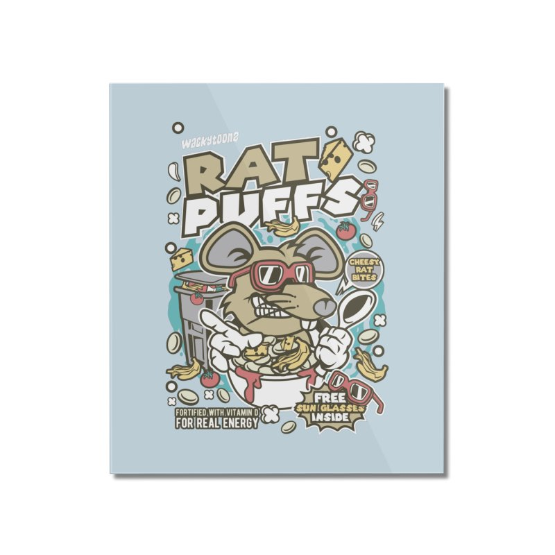 Rat Puffs Cereal Home Mounted Acrylic Print by WackyToonz