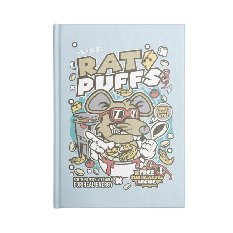 Rat Puffs Cereal Accessories Blank Journal Notebook by WackyToonz