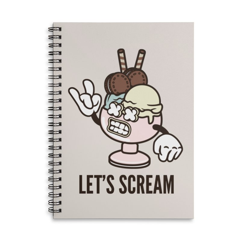Let's Scream Accessories Lined Spiral Notebook by WackyToonz