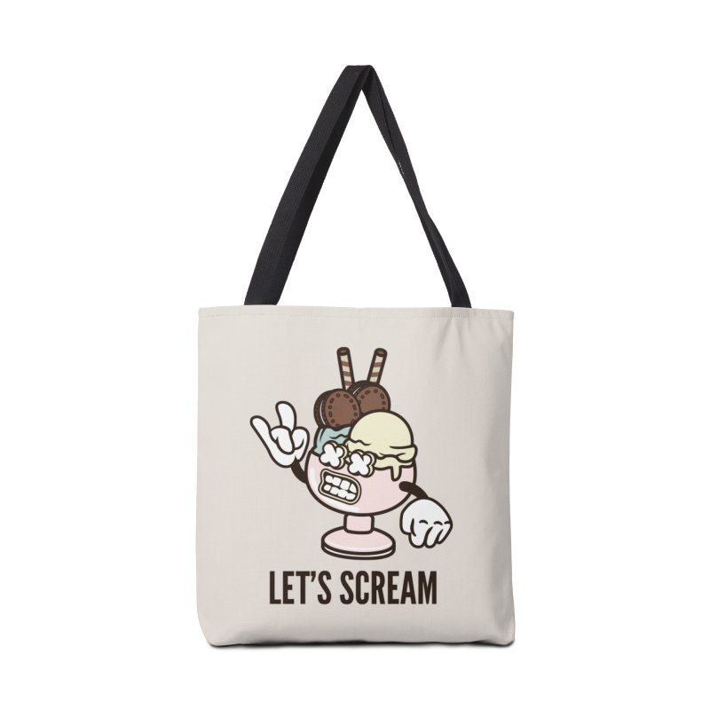 Let's Scream Accessories Tote Bag Bag by WackyToonz