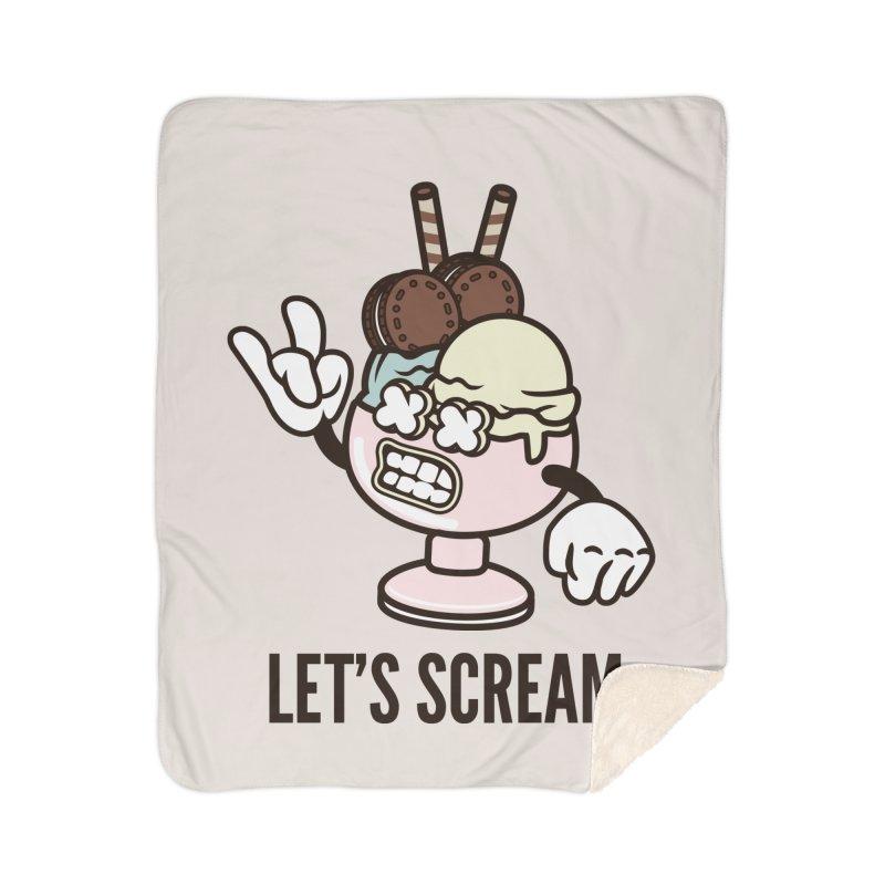 Let's Scream Home Sherpa Blanket Blanket by WackyToonz