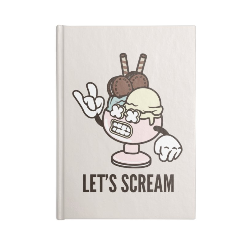 Let's Scream Accessories Lined Journal Notebook by WackyToonz