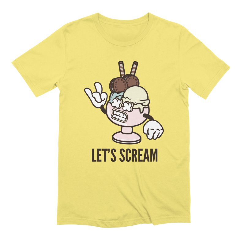 Let's Scream Men's Extra Soft T-Shirt by WackyToonz
