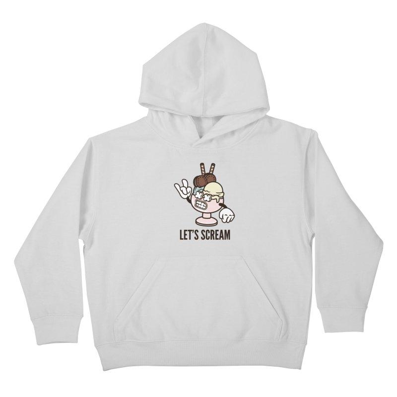 Let's Scream Kids Pullover Hoody by WackyToonz