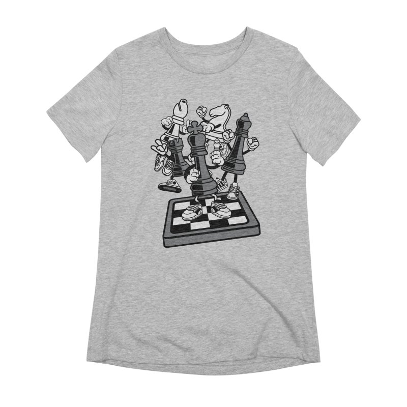 Game Of Chess Women's Extra Soft T-Shirt by WackyToonz