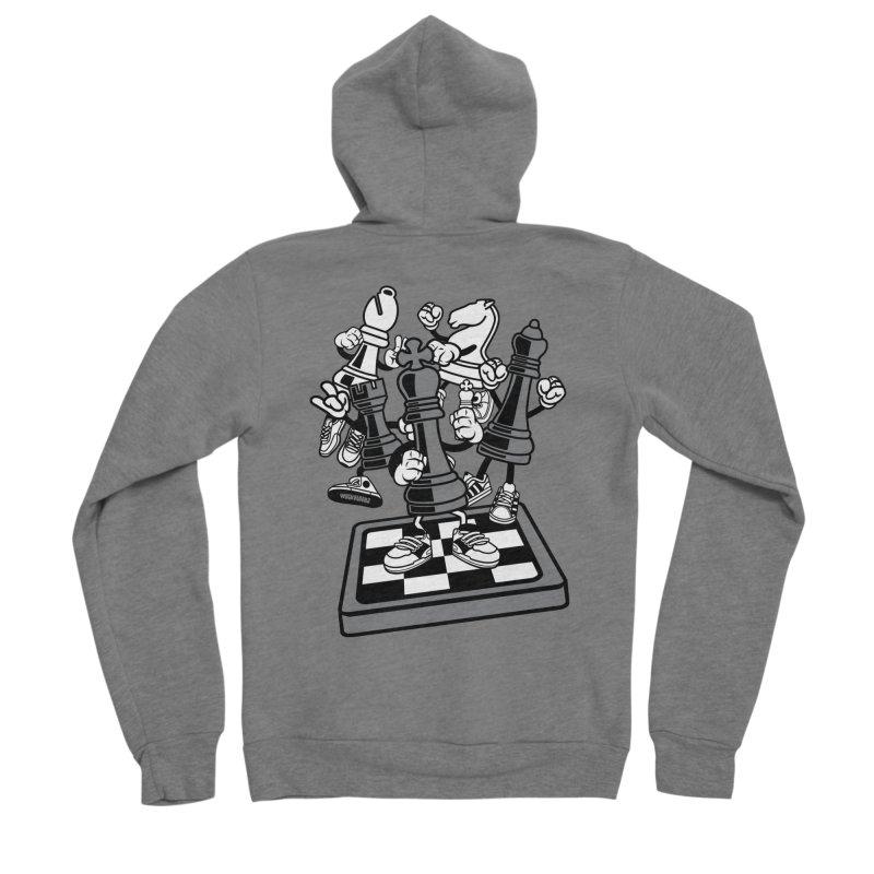 Game Of Chess Men's Sponge Fleece Zip-Up Hoody by WackyToonz