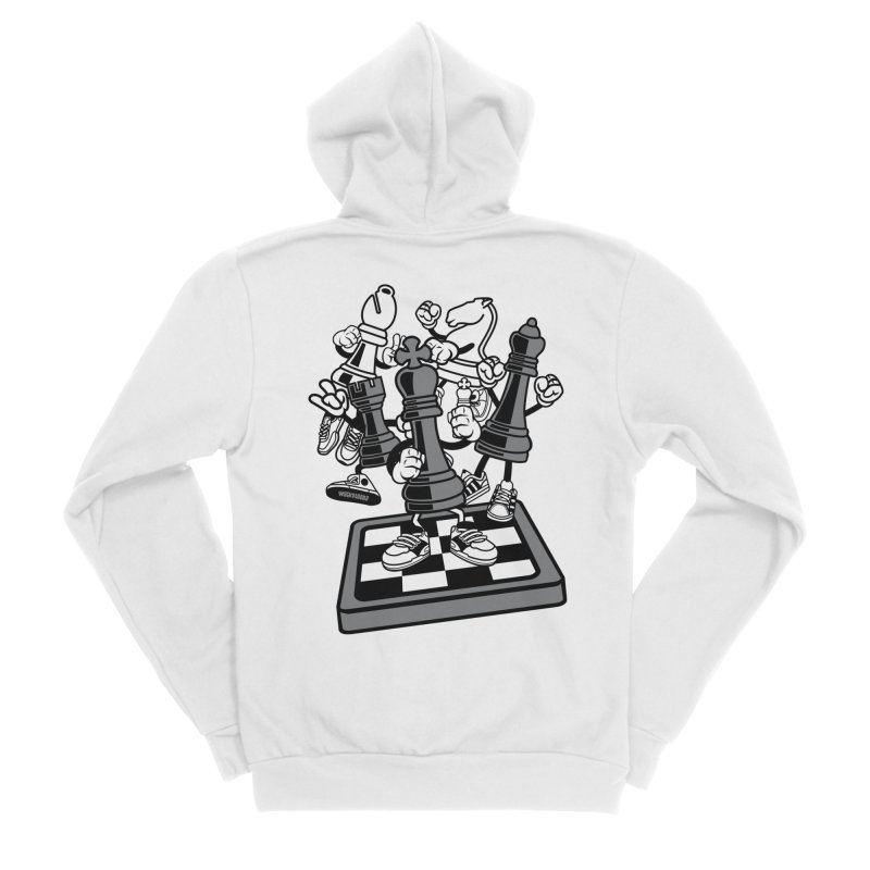 Game Of Chess Men's Sponge Fleece Zip-Up Hoody by WackyToonz
