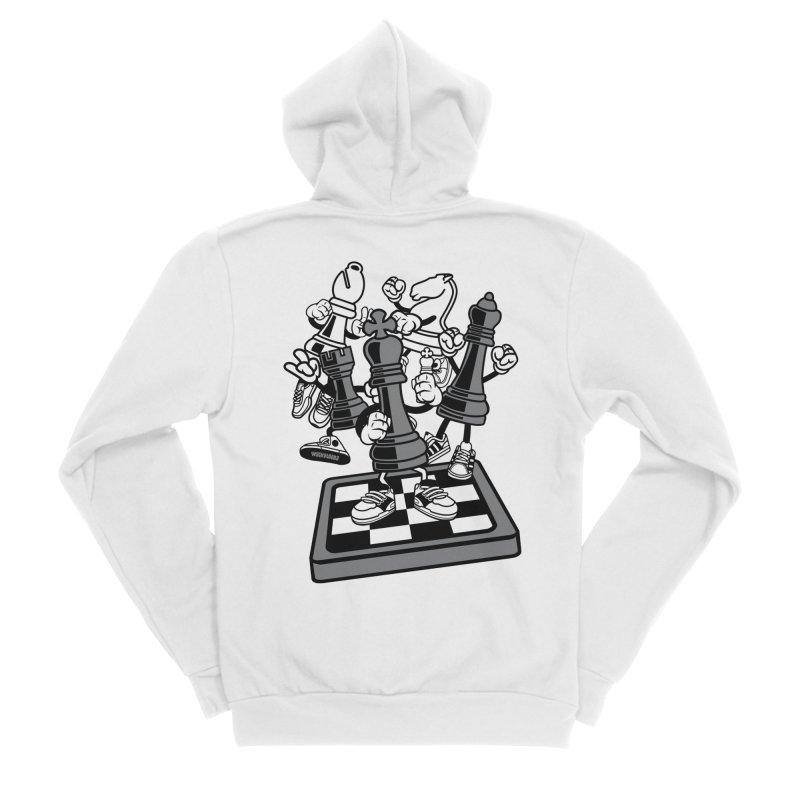 Game Of Chess Women's Zip-Up Hoody by WackyToonz