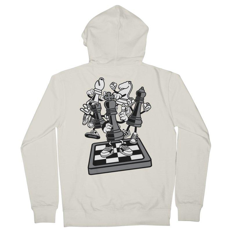 Game Of Chess Men's French Terry Zip-Up Hoody by WackyToonz