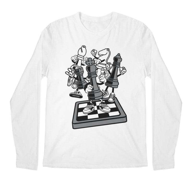 Game Of Chess Men's Regular Longsleeve T-Shirt by WackyToonz