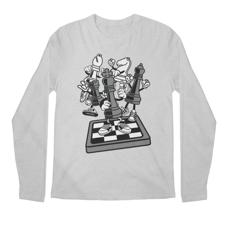 Game Of Chess Men's Regular Longsleeve T-Shirt by WackyToonz